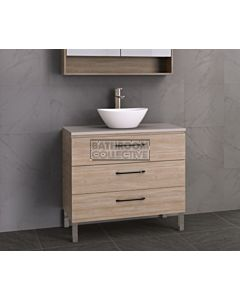 Timberline - Ashton 900mm On Leg Vanity with Stone, Freestyle or Meganite Top and Ceramic Basin
