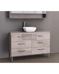 Timberline - Ashton 1200mm On Leg Vanity with Stone, Freestyle or Meganite Top and Ceramic Basin