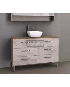 Timberline - Ashton 1200mm On Leg Vanity with Timber Top and Ceramic Basin