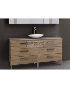 Timberline - Ashton 1500mm On Leg Vanity with Stone, Freestyle or Meganite Top and Ceramic Basin