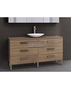 Timberline - Ashton 1500mm On Leg Vanity with Timber Top and Ceramic Basin