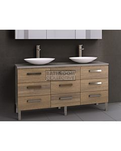 Timberline - Ashton 1500mm On Leg Vanity with Stone, Freestyle or Meganite Top and Double Ceramic Basin