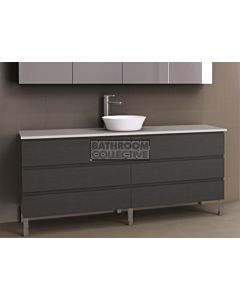 Timberline - Ashton 1800mm On Leg Vanity with Stone, Freestyle or Meganite Top and Ceramic Basin