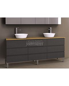 Timberline - Ashton 1800mm On Leg Vanity with Timber Top and Double Ceramic Basin