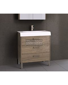 Timberline - Andorra 800mm On Leg Vanity with Ceramic Top