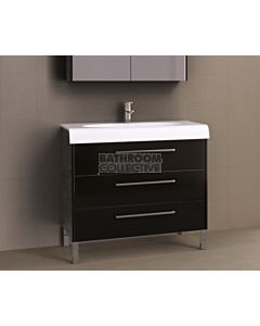 Timberline - Andorra 1000mm On Leg Vanity with Ceramic Top