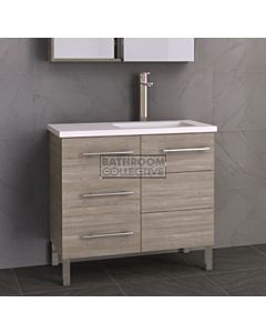 Timberline - Dakota 900mm On Leg Vanity with Stone, Freestyle or Meganite Top and Offset Under Counter Basin