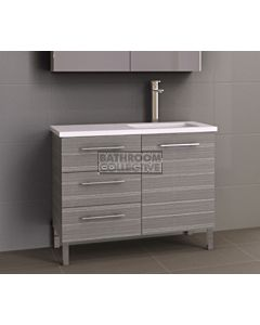 Timberline - Dakota 1050mm On Leg Vanity with Stone, Freestyle or Meganite Top and Offset Under Counter Basin