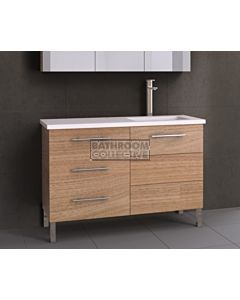 Timberline - Dakota 1200mm On Leg Vanity with Stone, Freestyle or Meganite Top and Offset Under Counter Basin