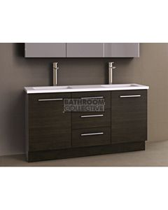 Timberline - Dakota 1500mm Floor Standing Vanity with Stone, Freestyle or Meganite Top and Double Under Counter Basin
