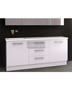 Timberline - Dakota 1800mm Floor Standing Vanity with Stone, Freestyle or Meganite Top and Offset Under Counter Basin