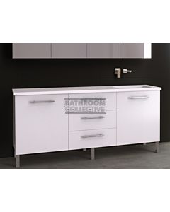 Timberline - Dakota 1800mm On Leg Vanity with Stone, Freestyle or Meganite Top and Offset Under Counter Basin