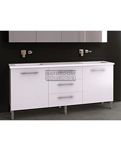 Timberline - Dakota 1800mm On Leg Vanity with Stone, Freestyle or Meganite Top and Double Under Counter Basin