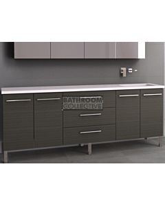 Timberline - Dakota 2100mm On Leg Vanity with Stone, Freestyle or Meganite Top and Offset Under Counter Basin