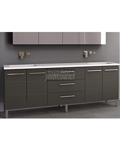 Timberline - Dakota 2100mm On Leg Vanity with Stone, Freestyle or Meganite Top and Double Under Counter Basin