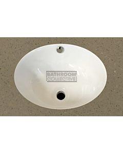 Timberline - Oval 420mm Ceramic Undermount Basin