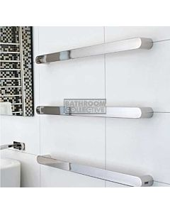 DC Short - Vega Modular Heated Towel Rail 432mm POLISHED STAINLESS (price per rail)