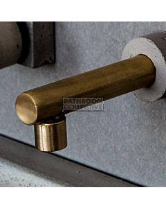 Wood Melbourne - Johannah Raw Brass Spout Only with Concrete Trim 130mm