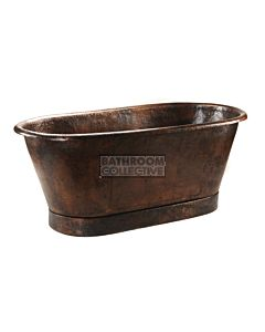 CopperCo - 1829mm Hammered Copper Modern Slipper Style Bathtub