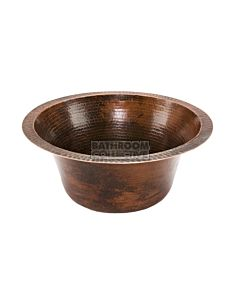 CopperCo - 432mm Large Round Hammered Copper Bar/Prep Sink