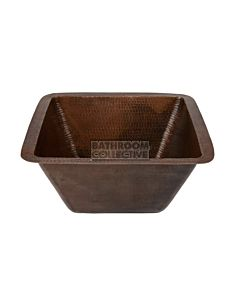 CopperCo - 381mm Square Hammered Copper Bar/Prep Sink w/ 51mm Drain Size
