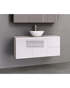Timberline - Nevada Classic 1200mm Wall Hung Vanity with 20mm Meganite Top and Ceramic Above Counter Basin