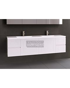 Timberline - Nevada Classic 1800mm Wall Hung Vanity with Double Basin Acrylic Top