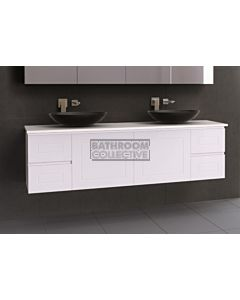 Timberline - Nevada Classic 1800mm Wall Hung Vanity with 20mm Meganite Top and Ceramic Above Counter Double Basin