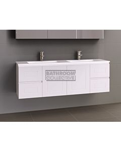 Timberline - Nevada Classic 1500mm Wall Hung Vanity with Double Basin Acrylic Top
