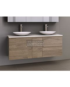 Timberline - Marshall 1500mm Wall Hung Vanity with 20mm Meganite Top and Ceramic Above Counter Double Basin