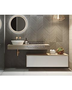 Timberline - Milan 1200mm Wall Hung Vanity with Laminate Slab Top with Offset Ceramic Basin