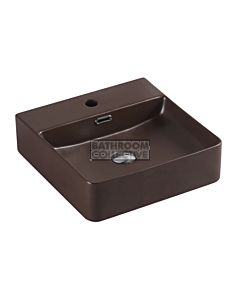 Collections - Marsay 420mm Cappuccino Brown Square Wall Hung Basin