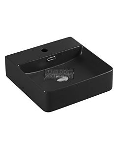 Collections - Marsay 420mm Matte Black Square Wall Hung Basin