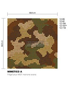 Bisazza - Flooring Mimetico A Decorative Glass Mosaic Tile, order unit 1.37m2