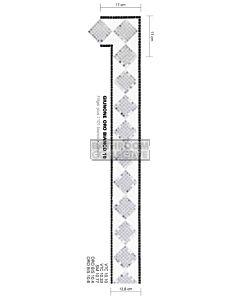Bisazza - Borders Giunone Oro Bianco Decorative Glass Mosaic Tile, per lineal metre
