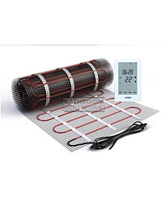 Hotwire Heating - 6.0m2 Undertile Floor Heating Mat Kit 900W
