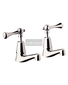 Bastow Tapware - Georgian Pillar Tap Set with Lever Handles CHROME