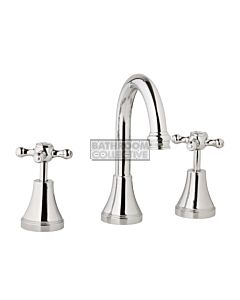 Bastow Tapware - Georgian Basin Tap Set with Cross Handles CHROME