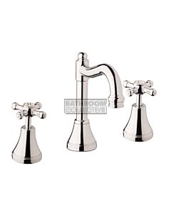 Bastow Tapware - Georgian Basin Tap Set with English Spout & Cross Handles CHROME