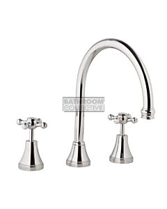 Bastow Tapware - Georgian Sink Tap Set with Cross Handles CHROME