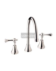 Bastow Tapware - Georgian Sink Tap Set with Lever Handles CHROME