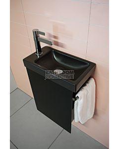 ADP - Seek Wall Hung Vanity 400mm & Towel Rail, Black Ceramic Top