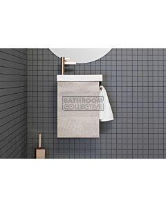 ADP - Seek Wall Hung Vanity 400mm & Towel Rail, White Ceramic Top