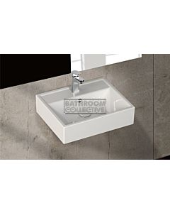 Paco Jaanson - Isvea Sekura 500mm Wall Mounted Basin 1TH Gloss White