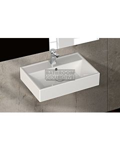 Paco Jaanson - Isvea Sekura 600mm Wall Mounted Basin 1TH Gloss White