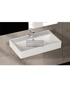 Paco Jaanson - Isvea Sekura 700mm Wall Mounted Basin 1TH Gloss White