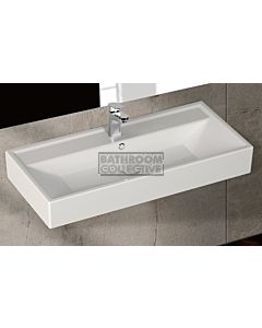 Paco Jaanson - Isvea Sekura 900mm Wall Mounted Basin 1TH Gloss White