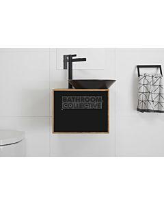 ADP - Bamboo Serena Wall Hung Vanity, Black Ceramic Basin 500mm