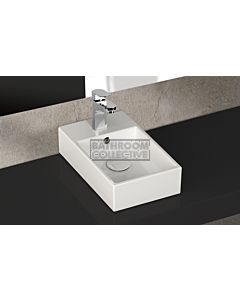 Paco Jaanson - Isvea Sistema Y 255mm Wall / Bench Mounted Wash Basin 1TH Gloss White