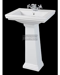 Canterbury - Warrington Deco Small Ceramic Pedestal Basin 520mm x 415mm